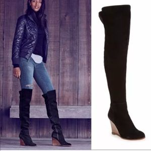 New Vince Camuto Granta Over Knee Wedge Boots 6.5